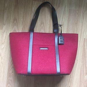 Lauren Ralph Lauren felt unlined handbag